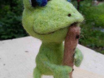 森の音楽家「カエル」バスリコーダーの画像