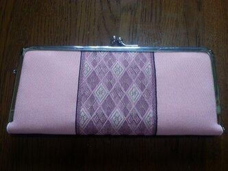 畳の縁 がま口長財布の画像