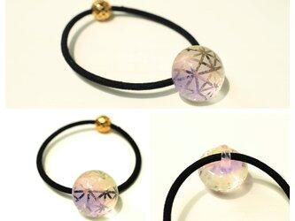 切子風ヘアゴム(ピンク紫)の画像