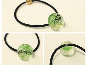 切子風ヘアゴム(緑)の画像