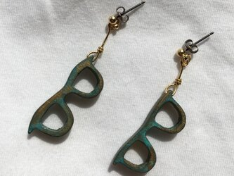 bronze glasses pierced earrings(R)の画像