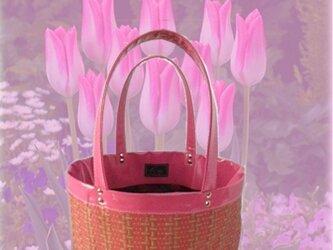 ☆Grazie spring pink 1点物 トートバッグ☆の画像