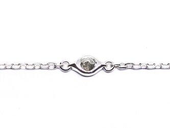アンティーク風ローズカットダイヤ+SV925ブレスレット【Pio】rose diamond braceletの画像