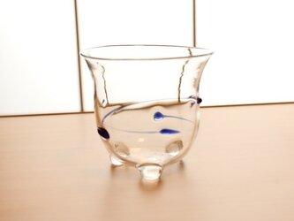 『冷茶グラス青』耐熱ガラスの画像