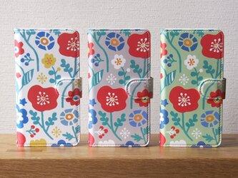 Flowers手帳型スマホケースの画像