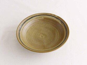緑線描皿(地釉)の画像