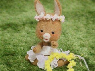 お花の冠あなたにもあげる~羊毛フェルト~の画像