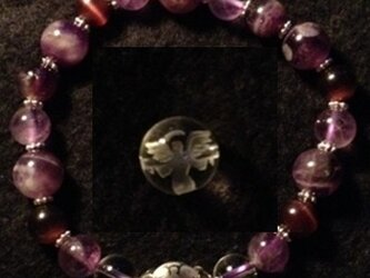 紫のブレスレット138の画像