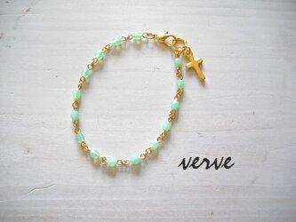 Cross Bracelet Mint Greenの画像