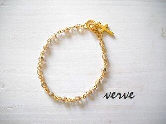 Cross Bracelet Champagne Goldの画像