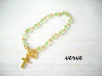 Cross Bracelet verdure Swarovskiの画像