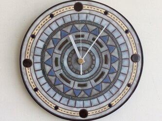 幾何学文様壁掛け時計(大)(No.302)の画像