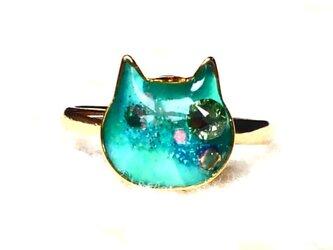 猫型リングフリーサイズPグリーンの画像