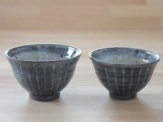 No.nks-03 野灰粉引線彩飯碗の画像