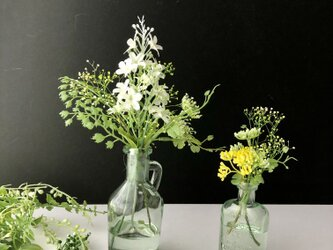 Flower glass Green arrange 2個セットの画像
