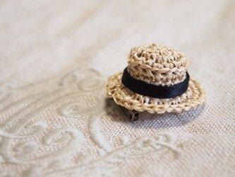 夏が来たぞ~!!カンカン帽のブローチ(小) 受注制作の画像
