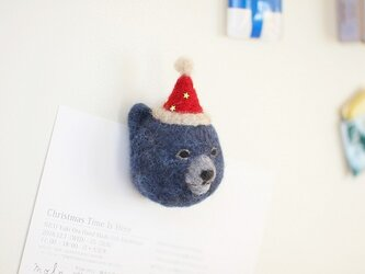 BLUE BEAR MAGNET(winter ver.)の画像