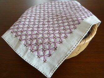 刺し子布巾の画像