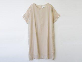 [ボタニカルダイ]すずらん染め 綿オーガンジー重ねワンピース 8512-04006-50の画像