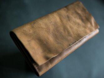 ヴィンテージ・モカ / 本革長財布の画像