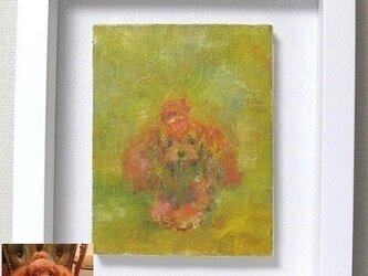 ペットの肖像画 油彩画(F0号)オーダーメイドの画像
