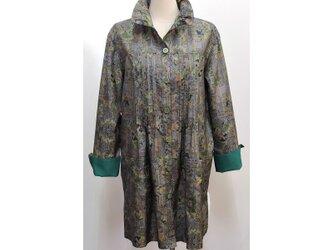ピンタックシャツジャケット(着物リメイク)[sjk-B10]の画像
