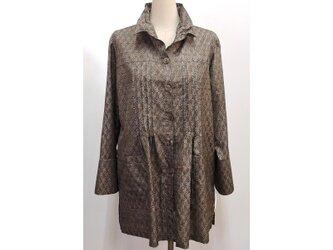 ピンタックシャツジャケット(着物リメイク)[sjk-B11]の画像