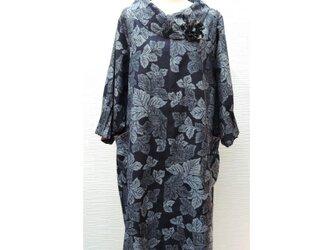 大襟チュニック(紬)(着物リメイク)の画像