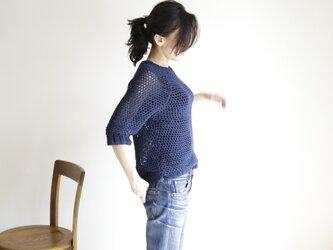 summer sweater(s) navy / サマーセーター(s) 紺の画像