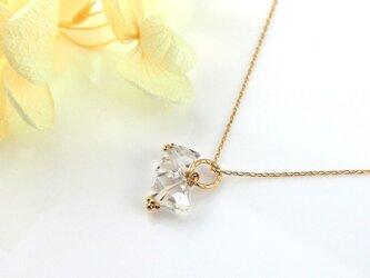 K10 ハーキマーダイヤモンド水晶の2粒ネックレスの画像