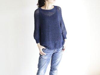 summer sweater(m) navy / サマーセーター(m) 紺の画像