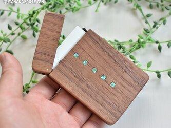木製名刺入れ【四角デザイン】ウォールナットの画像