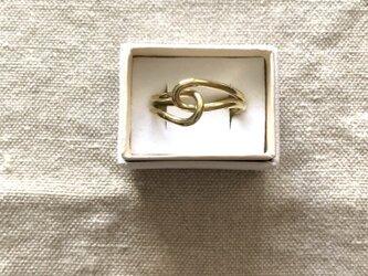 knot ring / brassの画像