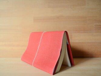 畳縁の文庫本カバー 赤色の画像
