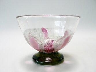プラチナ箔デザートグラス(紅)−1の画像