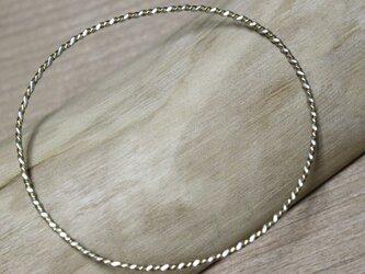 k22 silver950 より線 ツイスト バングルの画像