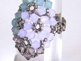 紫陽花モチーフの指輪の画像