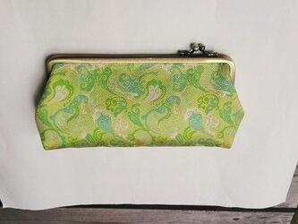 緑風 シルク 西陣織 長財布の画像