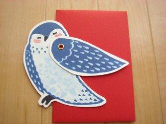 メッセージカード 鳥さんの画像