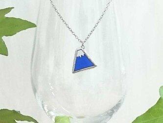 ステンドグラスのネックレス【ころりん富士山】の画像