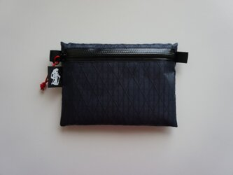 flat pouch M x-pac 04 Navyの画像