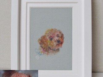 ペットの肖像画 水彩画(キャビネ判)オーダーメイドの画像