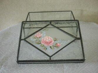 手描きBOX(ピンクの薔薇)の画像