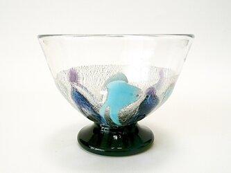 【再販】プラチナ箔デザートグラス(紫)−2の画像