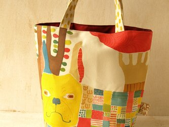 フレンチブル手描きバッグの画像