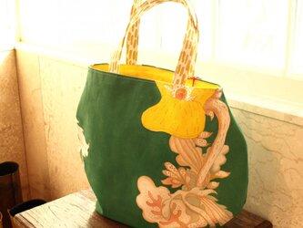 パンジー手描きバッグ02の画像