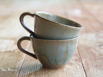 Takeshi Sumi様オーダー コーヒーカップ 紫陽花の画像