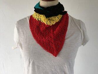 インド綿の手編みスカーフの画像