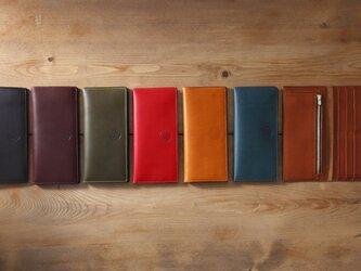 イタリア製リスシオ レザー 長財布の画像