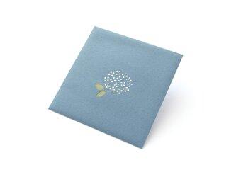 【切り絵のぽち袋】 紫陽花・青(大サイズ) 2枚入りの画像